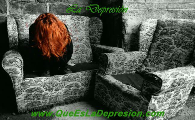 Imagen de una mujer con depresión
