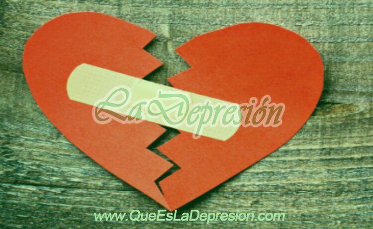 Imagen de un corazón roto después de una ruptura amorosa