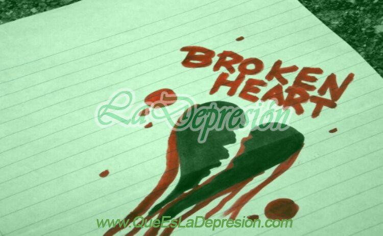 Imagen sobre un corazón roto