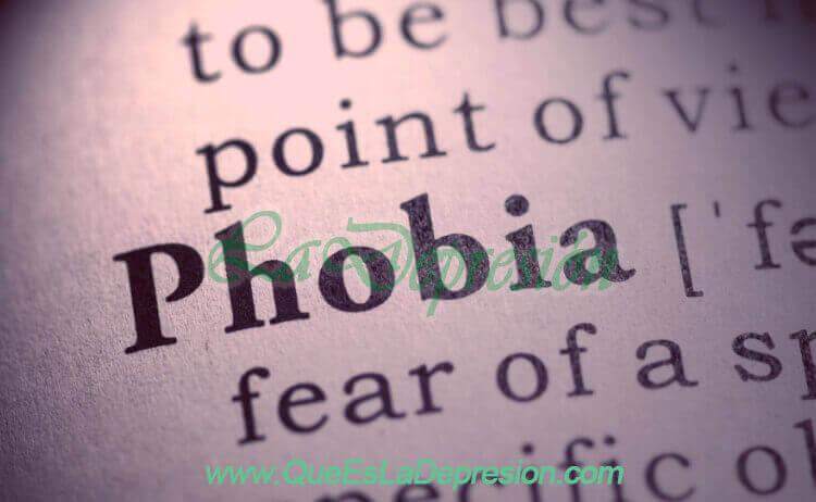 """Imagen de la palabra """"fobia"""""""